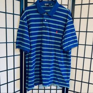 Polo Ralph Lauren striped polo Sz 2XL tall